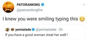 Patoranking and yemi