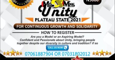 Mr and miss unity plateau 2021