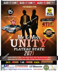 Mr and miss unity 2021 audition