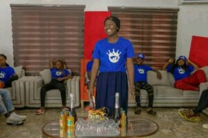 Mint celebrated on her birthday at the pitch perfect naija house
